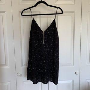 LF Polka Dot Spaghetti Strap Dress with Zipper
